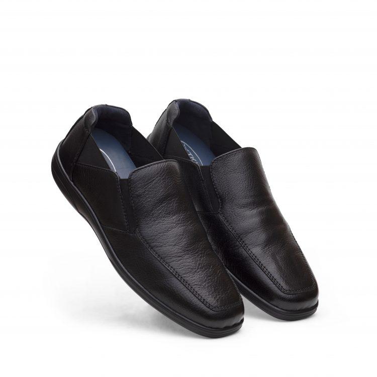 LAM04-BLK-Black Leather Men Shoes (2)