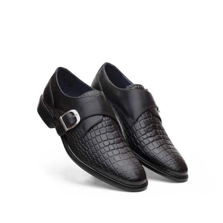MNJ RIC08-Blk Derby Monk Casual Shoes (5)