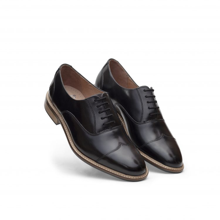 ROB02-BLK Leather Men Shoes (1)