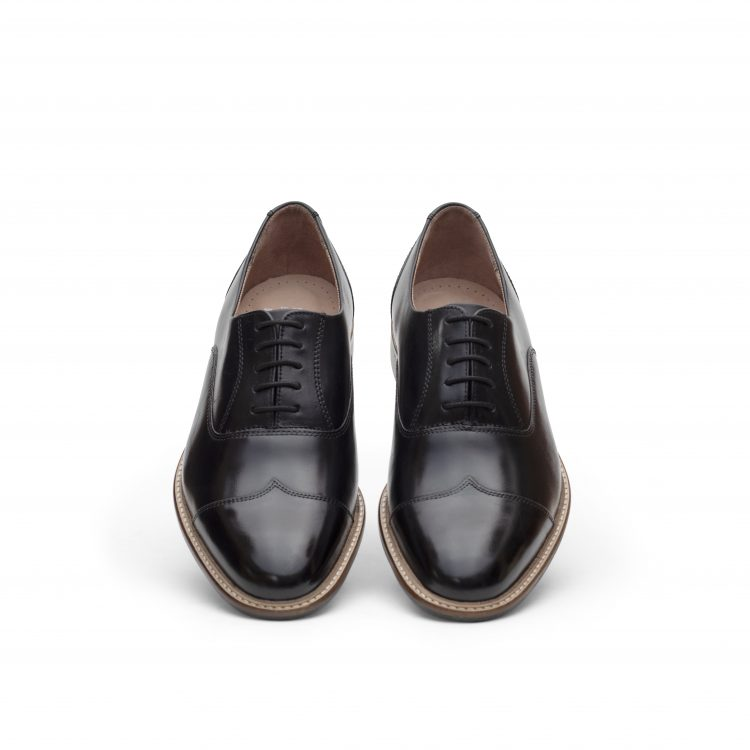 ROB02-BLK Leather Men Shoes