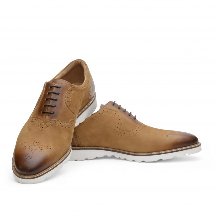 ROB03-TAN Casual Brown Shoes men (5)
