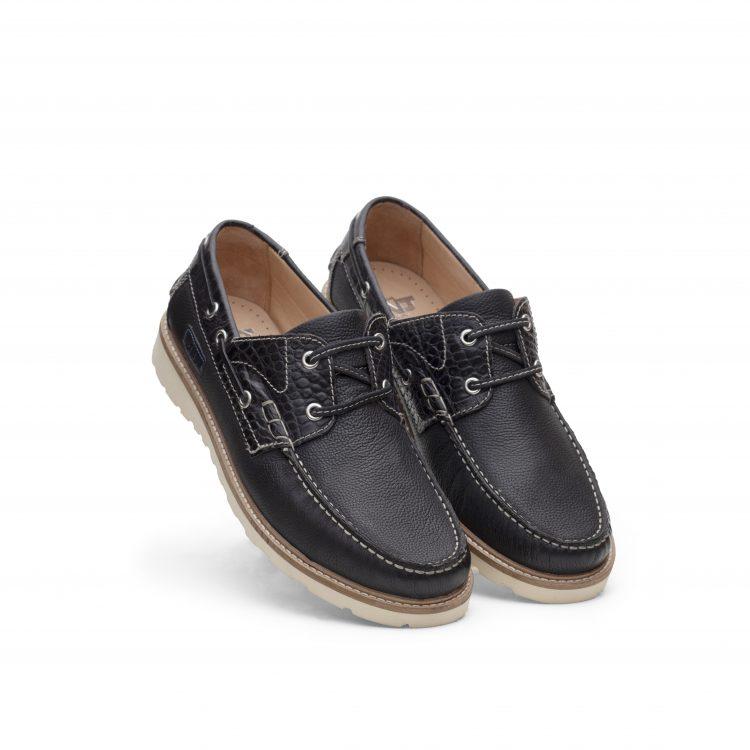 TRU01-BLK Black Boat Shoes for Men (5)