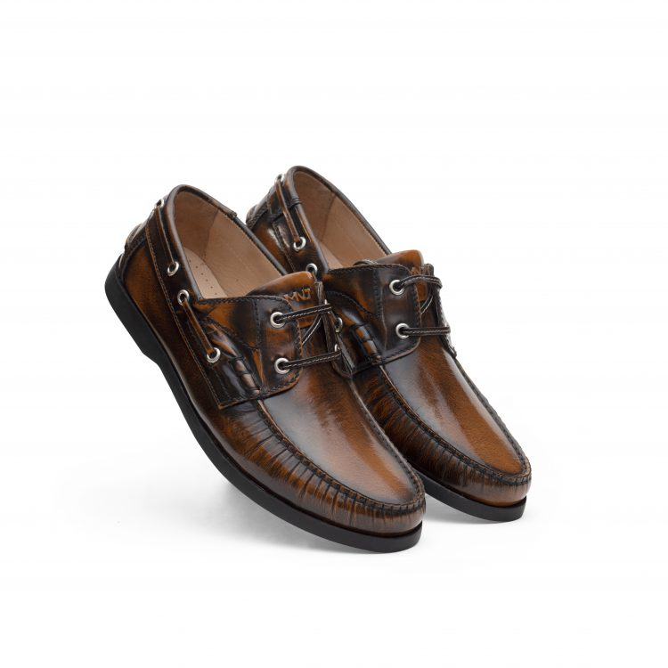 TRU01-TAN_ Boat Leather Casual Shoes (4)