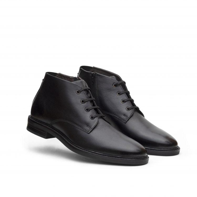 VICBT05-BLK-Black Leather Men Shoes (10)