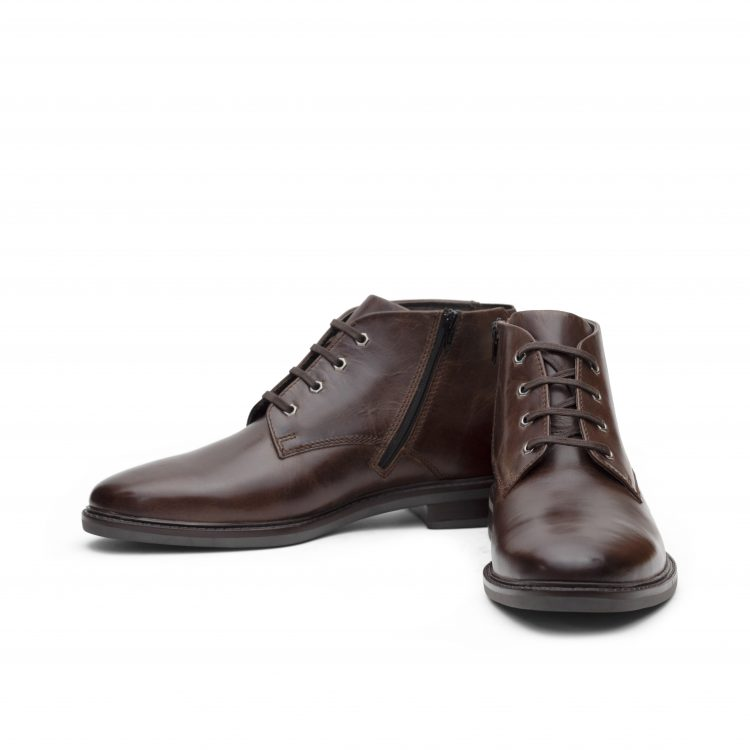 VICBT05-BRW-Brown Leather Shoes